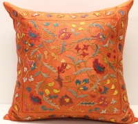 C7 Silk Suzani Cushion Cover