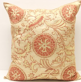 C9 Silk Suzani Cushion Cover
