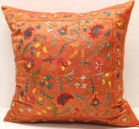 C49 Silk Suzani Cushion Pillow Cover