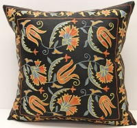 C44 Silk Suzani Pillow Cover