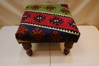 R4528 Square Small Kilim Stool