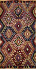 R3677 Turkish Esme Kilim Rug