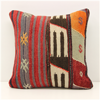 Turkish Kilim Cushion Cover M1483