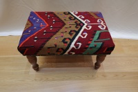 R4045 Turkish Kilim Stool