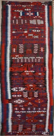 F244 Turkish Malatya Kilim Runner