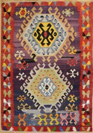 R7076 Turkish Old Anatolian Kilim Rug