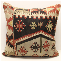 XL409 Turkish Traditional Wool Kilim Cushion Cover