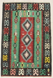 R6336 Turkish Ushak Kilim Rug