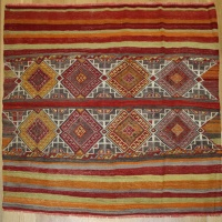 R8791 Village Turkish Cicim Kilim Rugs