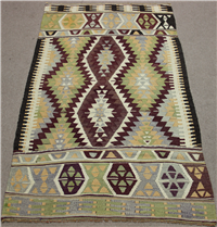 Vintage Turkish Antalya Kilim Rug R8718