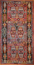 R7831 Vintage Turkish Esme Kilim Rugs