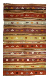 R8172 Vintage Turkish Kilim Rug