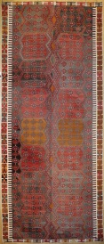 R7519 Vintage Turkish Large Kilim Rug