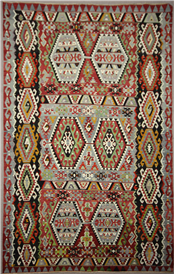 Vintage Turkish Large Kilim Rug R7839