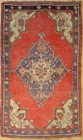 R3003 Vintage Ushak Turkish Rug