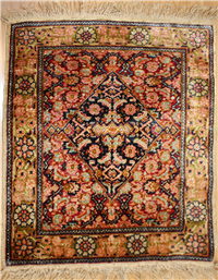 Wonderful Turkish Hereke Silk Rug R944