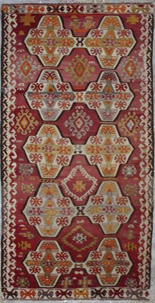 R6519 Vintage Mut Kilim Oriental Rug