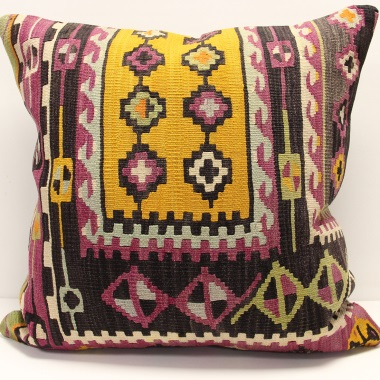 XL349 Anatolian Traditional Wool Kilim Cushion Cover