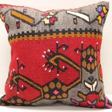 M976 Antique Anatolian Kilim Cushion Cover