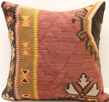 L611 Antique Anatolian Kilim Cushion Cover