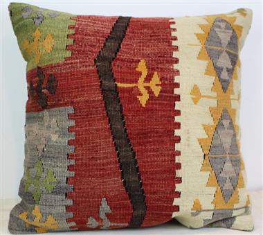 Antique Anatolian Kilim Cushion Cover L611