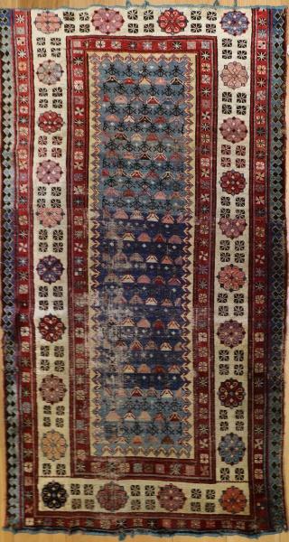 R2890 Antique Caucasian Gendje Rug