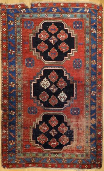 R4873 Antique Caucasian Kazak Rug