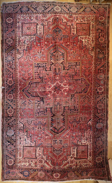 R3357 Antique Heriz Persian Carpet