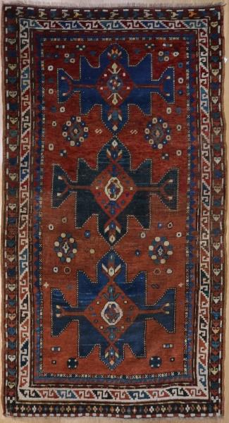 R2381 Antique Kazak Rug