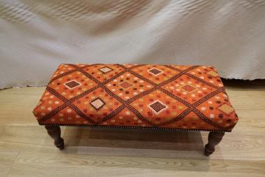 Antique Kilim Bench Table Stool R5204