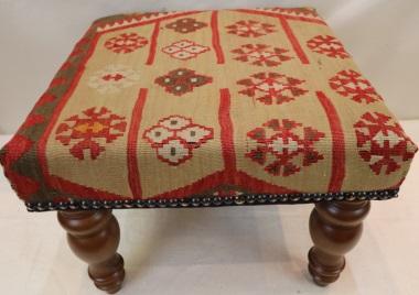 R6966 Antique Kilim Footstools