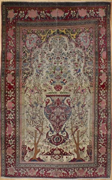 R8459 Antique Persian Isfahan Rug