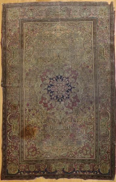 R5152 Antique Persian Silk Esfahan Rug