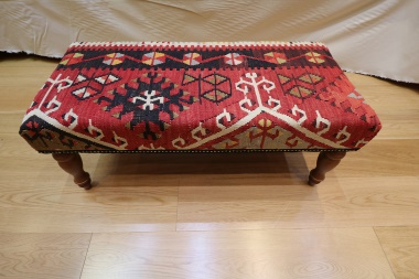 R4031 Antique Turkish Bench Kilim Stool