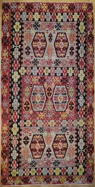 R7641 Antique Turkish Esme Kilim Rug