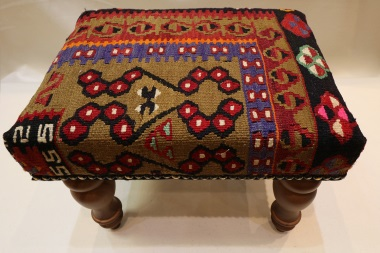 R4796 Antique Turkish Kilim Footstool