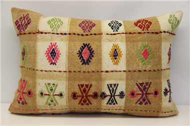 D54 Antique Turkish Kilim Pillow Cover