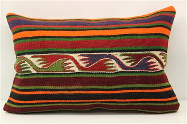 D266 Antique Turkish Kilim Pillow Cover