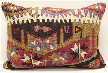 D234 Antique Turkish Kilim Pillow Cover