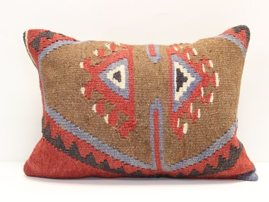 D236 Antique Turkish Kilim Pillow Cover