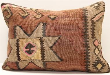 D237 Antique Turkish Kilim Pillow Cover