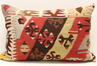 D395 Antique Turkish Kilim Pillow Cover