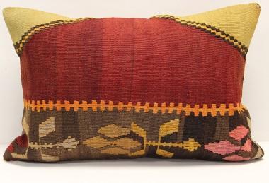 D396 Antique Turkish Kilim Pillow Cover