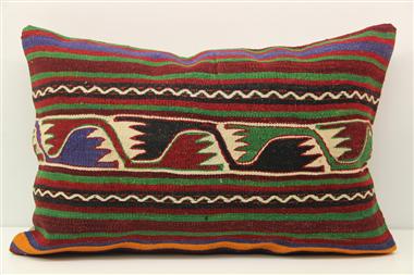 D399 Antique Turkish Kilim Pillow Cover