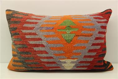 D407 Antique Turkish Kilim Pillow Cover