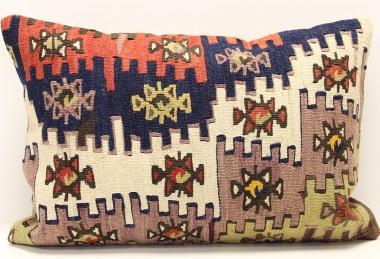 D408 Antique Turkish Kilim Pillow Cover