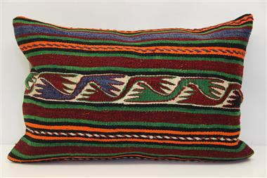D417 Antique Turkish Kilim Pillow Cover