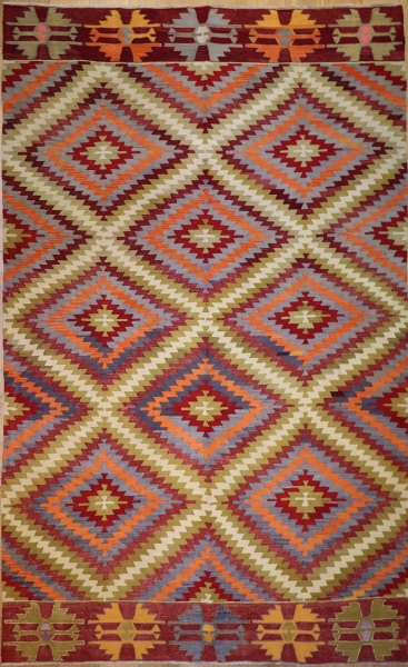 R8906 Antique Turkish Kilim Rug