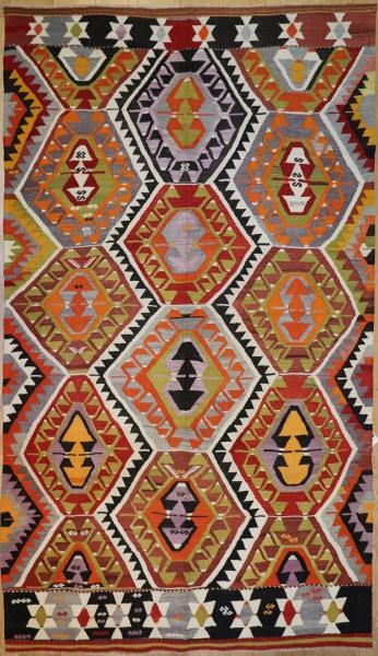 R8908 Antique Turkish Kilim Rug