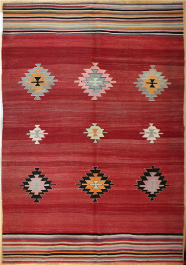 R8036 Antique Turkish Kilim Rug